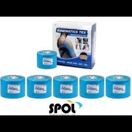 Spol kineziológiai tape, kék, 5 cm x 5 m -  6 db / 1 doboz
