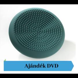 TheraBand® tüskés felszínű (senso) dinamikus ülőpárna, átm. 33 cm, zöld + Ajándék DVD