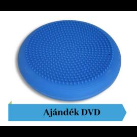 TheraBand® tüskés felszínű (senso) dinamikus ülőpárna, átm. 36 cm, kék + Ajándék DVD