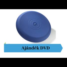 Thera-Band® sima felszínű dinamikus ülőpárna, átm. 36 cm, kék + Ajándék DVD