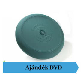 Thera-Band® sima felszínű dinamikus ülőpárna, átm. 33 cm, zöld + Ajándék DVD