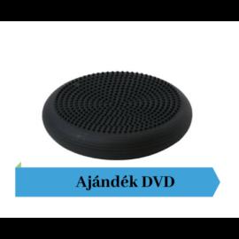 Togu® Dynair tüskés felszínű (senso) dinamikus ülőpárna, átm. 36 cm, fekete + Ajándék DVD