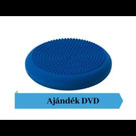 Togu® Dynair tüskés felszínű (senso) dinamikus ülőpárna, átm. 36 cm, kék + Ajándék DVD