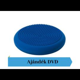 Togu® Dynair Plus -  tüskés felszínű (senso) dinamikus ülőpárna, átm. 39 cm, kék + Ajándék DVD