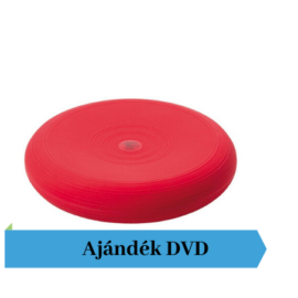 Togu® Dynair, 33 cm átm., sima felszínű dinamikus ülőpárna, piros + Ajándék DVD