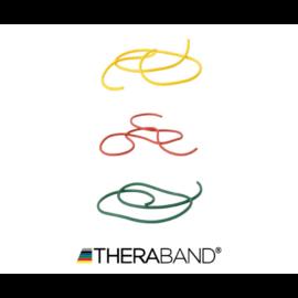 TheraBand erősítő gumikötél 1,4 m - kezdő csomag (3 db-os, sárga, piros és zöld)