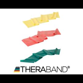 TheraBand erősítő gumiszalag 150 cm - kezdő csomag (3 db-os, sárga, piros és zöld)