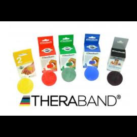 TheraBand HandTrainer kézerősítő gömb - szett (5 db-os, sárga, piros, zöld, kék és fekete)