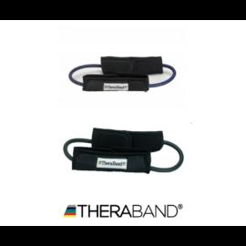 TheraBand™ Gumikötél hurok lábrögzítővel - haladó csomag (2 db-os, kék és fekete)