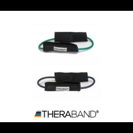 TheraBand™ Gumikötél hurok lábrögzítővel - kezdő csomag (2 db-os, zöld és kék)