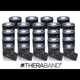 TheraBand kineziológiai tape fekete / fehér mintával, 5 cm x 5 m - 24 db / 1 doboz