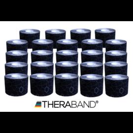 TheraBand kineziológiai tape fekete/szürke mintával, 5 cm x 5 m - 24 db / 1 doboz