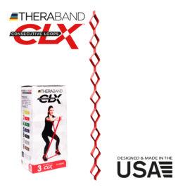 TheraBand CLX - Consecutive Loops 2,2 méteres közepes, piros - rehabilitációra