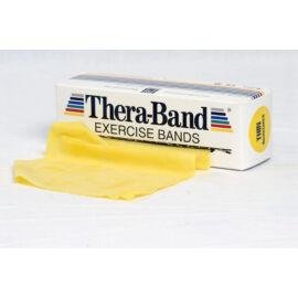 TheraBand™ Erősítő gumiszalag gurigában 5,5 m, gyenge, sárga