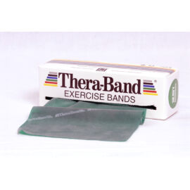 TheraBand™ Erősítő gumiszalag gurigában 5,5 m, erős, zöld