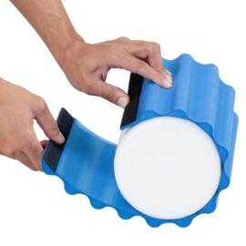 TheraBand Wrap+, 30 cm hosszú, kék, extra kemény bordázott masszázs felület - Theraband Foam Roller-re tehető, cserélhető