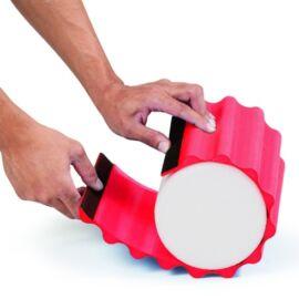 TheraBand Wrap+, 30 cm hosszú, piros, puha bordázott masszázs felület - Theraband Foam Roller-re tehető, cserélhető