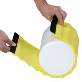 TheraBand Wrap+, 30 cm hosszú, sárga, extra puha bordázott masszázs felület - Theraband Foam Roller-re tehető, cserélhető