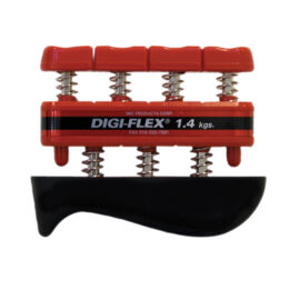 Digi-Flex hand/finger exercise system, kéz/ujj erősítő, piros, erősség: 1,4 kg - 4,5 kg