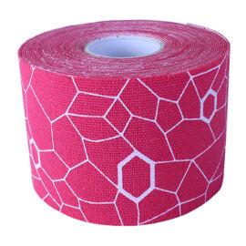 TheraBand kineziológiai tapasz 5 cm x 5 m, rózsaszín, fehér mintával