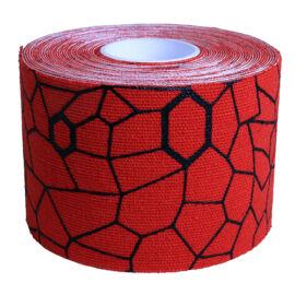 TheraBand kineziológiai tapasz 5 cm x 5 m, piros, fekete mintával