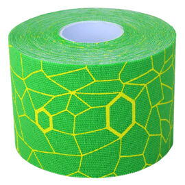 TheraBand kineziológiai tape 5 cm x 5 m, zöld, sárga mintával