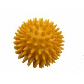 Kemény, tüskés masszírozó labda átm. 78 mm, sárga