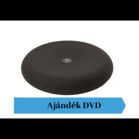 Togu® Dynair átm. 36 cm dinamikus ülőpárna , fekete + Ajándék DVD