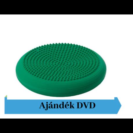 Togu® Dynair tüskés felszínű (senso) dinamikus ülőpárna, átm. 36 cm, zöld + Ajándék DVD