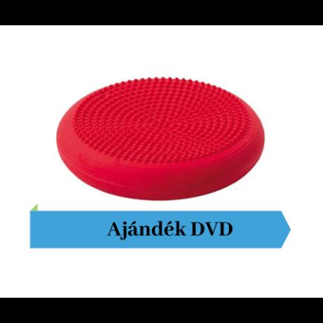 Togu® Dynair tüskés felszínű (senso) dinamikus ülőpárna, átm. 36 cm, piros + Ajándék DVD