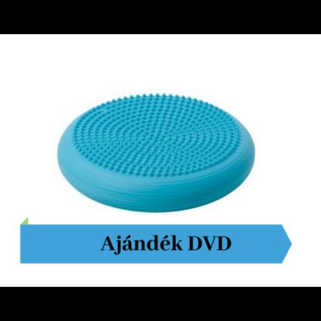 Togu® Dynair tüskés felszínű (senso) dinamikus ülőpárna, átm. 36 cm, türkiz + Ajándék DVD
