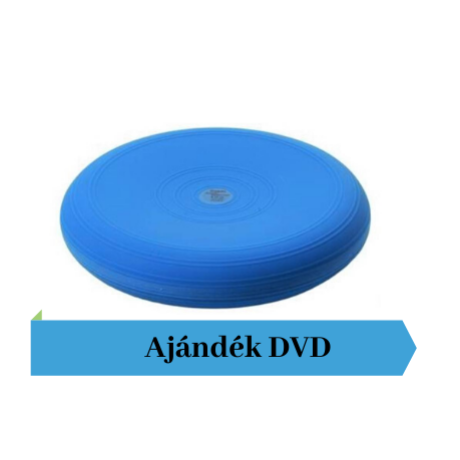 Togu® Dynair, 33 cm átm., sima felszínű dinamikus ülőpárna, kék + Ajándék DVD