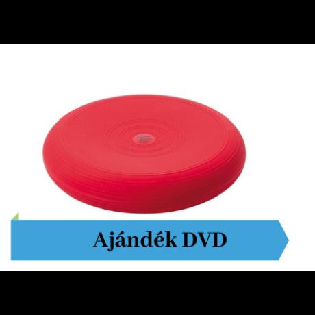 Togu® Dynair átm. 36 cm dinamikus ülőpárna , piros + Ajándék DVD