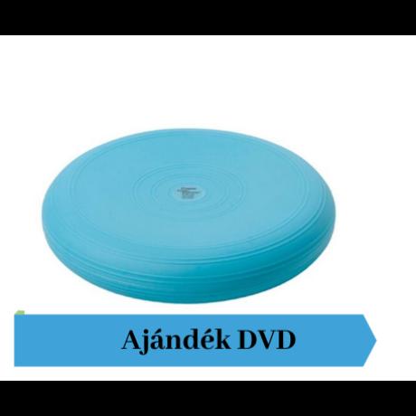 Togu® Dynair, 33 cm átm., sima felszínű dinamikus ülőpárna, türkiz + Ajándék DVD