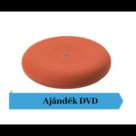 Togu® Dynair, 33 cm átm., sima felszínű dinamikus ülőpárna, terra + Ajándék DVD