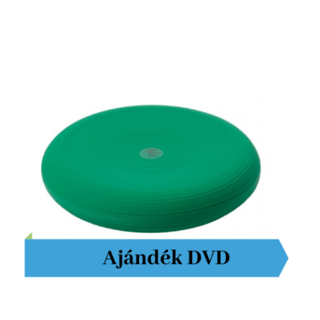 Togu® Dynair, 33 cm átm., sima felszínű dinamikus ülőpárna, zöld + Ajándék DVD
