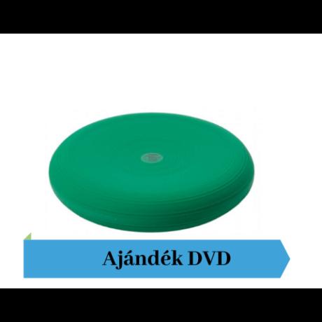 Togu® Dynair átm. 36 cm dinamikus ülőpárna , zöld + Ajándék DVD