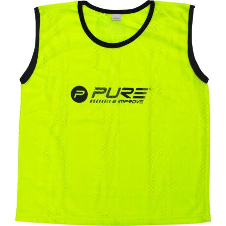 pure2improve_neon sárga_hálós_jelzőmez_mini_méretben