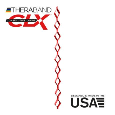 TheraBand CLX-Consecutive Loops 22 méteres közepes,piros