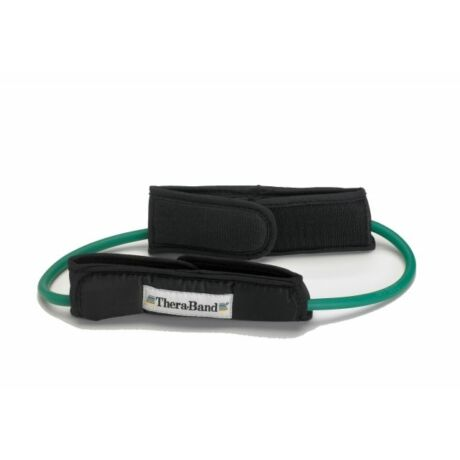 TheraBand™ Gumikötél hurok lábrögzítővel, zöld, erős