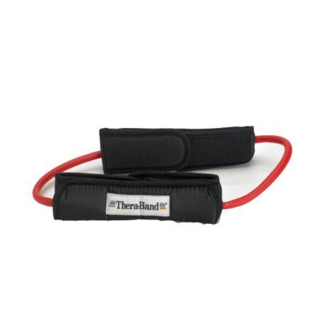 TheraBand™ Gumikötél hurok lábrögzítővel, közepes, piros