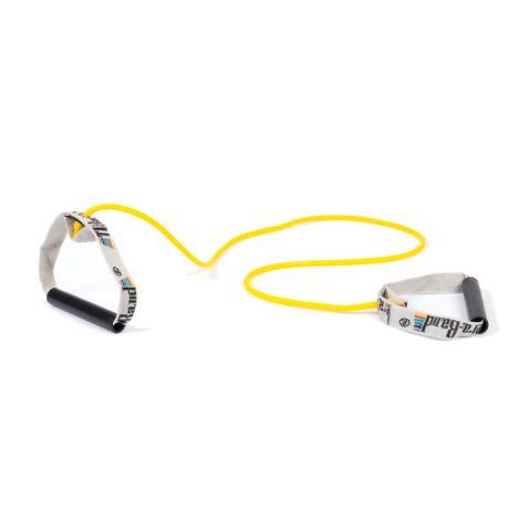 TheraBand™ Erősítő gumikötél merev fogantyúval 1,4 m, gyenge, sárga