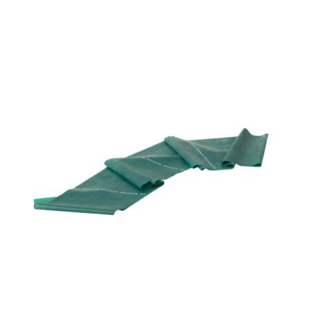 TheraBand™ Erősítő gumiszalag 150 cm, erős, zöld, ajándék gyakorlat füzettel