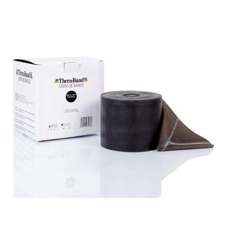 TheraBand™ Erősítő gumiszalag gurigában 45,5 m, szuper erős, fekete