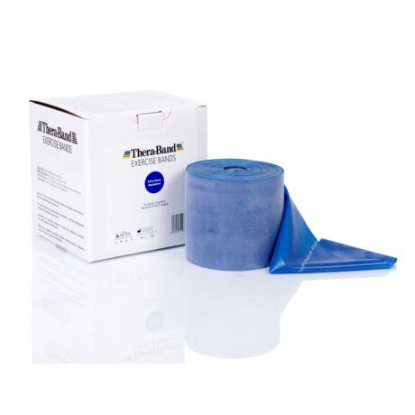 TheraBand™ Erősítő gumiszalag gurigában 45,5 m, extra erős, kék