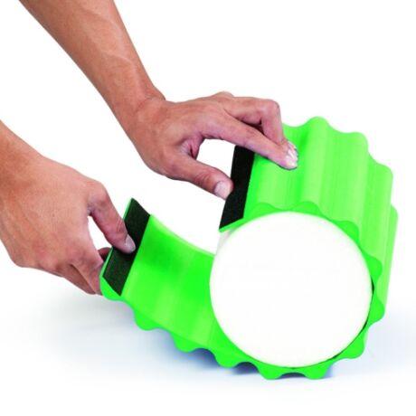 TheraBand Wrap+, 30 cm hosszú, zöld, kemény bordázott masszázs felület - Theraband Foam Roller-re tehető, cserélhető