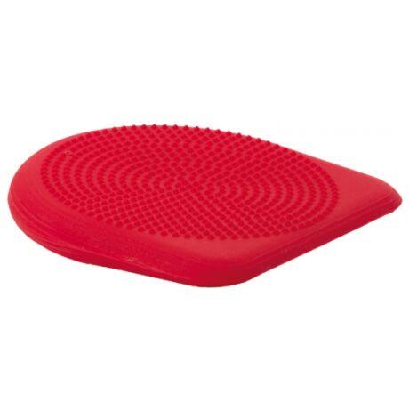 Togu® Dynair PREMIUM ék alakú, tüskés felszínű (senso) dinamikus ülőpárna + ajándék tűszelepes pumpa, sötét piros