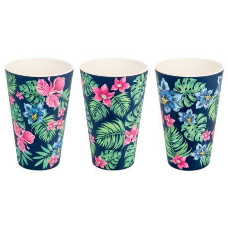 Woodway Tropical szett kávés pohár 3 x 400 ml