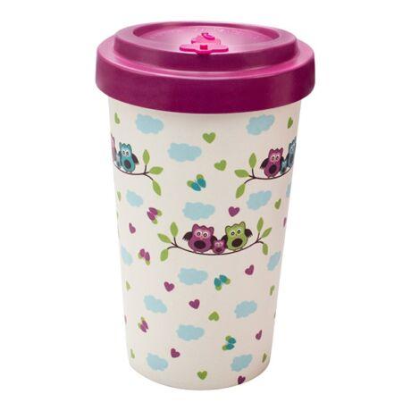 Woodway Owls Purple kávés pohár 500 ml